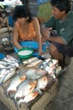 Iquitos Fischverkäufer